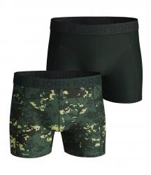 ŠORTKY BJÖRN BORG DIGITAL WOODLAND COTTON STRETCH SHORTS 2-PACK ZELENÉ
