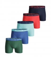 ŠORTKY BJÖRN BORG SEASONAL SOLID ESSENTIAL SHORTS 5-PACK ZELENÉ